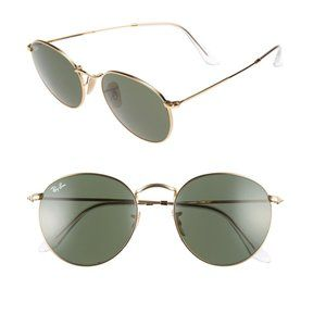 Ray-Ban Round Metal Classic Icons 53mm Sunglasses